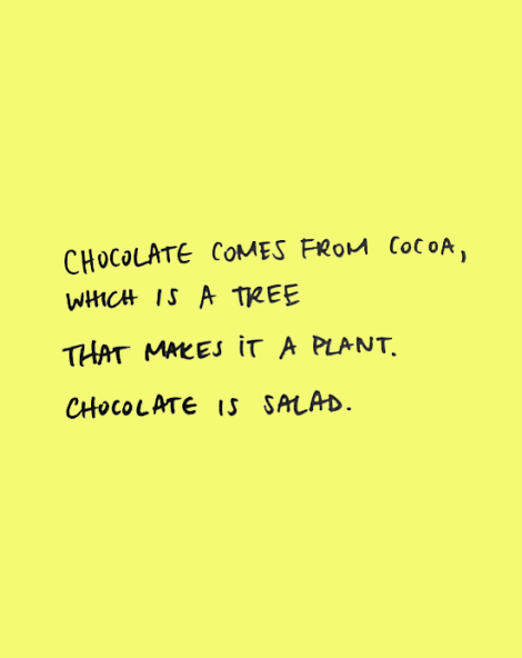 chocolate salad