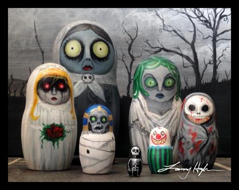creepy russian dolls
