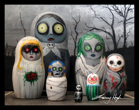 creepy russian dolls